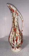 Vintage Mid Century Modern Drip Glaze Vase Ewer