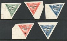 Latvia 1933. Afrika flight Collection of 5.MNH.Very Fine.Forgery