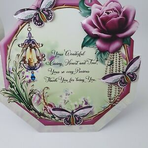 Handmade 3D octagon shaped Birthday card Special Day and your wonderful