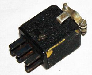 Quad II Jones 6 pin input plug. Used. Genuine used part.