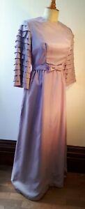 Vintage 1960s Ladies Long Dress/ Bridesmaid. Costume Grade. UK 10. To Shorten