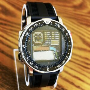 RARE Vintage 80s Citizen Windsurf D060 Aqualand Promaster Watch Made in Japan