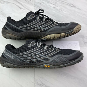 Merrell Men (size 10.5) Trail Glove 3 Black Grey  Barefoot Shoes Q7