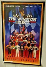 "The Winston Select Charlotte Motorsport Speedway 36.5"" x 23"" Nascar Poster"