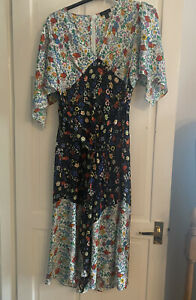 Topshop IDOL Size UK 14 Floral Multi Colour Maxi Dress-SOLD OUT