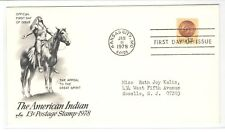 FMRA THE AMERICAN INDIAN 13 CENT POSTAGE STAMP 1978 FDC COVER [990]