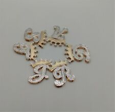 PERSONALIZED DOUBLE PLATE CROWN INITIALS 10K Gold