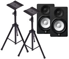 Yamaha HS5 Black Studio Monitors with Heavy Duty Speaker Tripods **NEW**