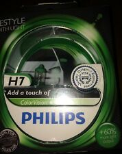 H7 GREEN COLOR VISION H7 COLOUR VISION PHILIPS GREEN BULBS