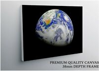 Planet Earth From Space Large CANVAS Art Print Gift A0 A1 A2 A3 A4