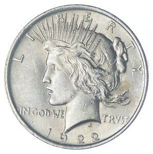 Choice AU/UNC 1922 Peace Silver Dollar - 90% Silver *969