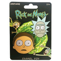 Rick and Morty Rick & Morty Face Enamel Pin Set Set of 2 NEW