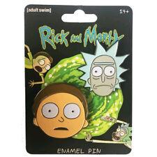 Rick and Morty Rick & Morty Face Enamel Pin Set Set of 2 NEW