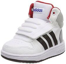 Adidas Hoops Mid 2.0 Scarpe da ginnastica Basse Unisex-bimbi Bianco 21
