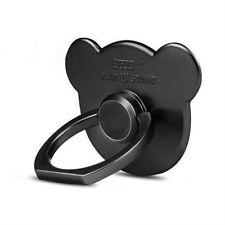 Black-360° Bear Finger Ring Buckle Holder Stand Mount Bracket for Cell Phone