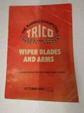 TRICO WIPER ARMS BLADES AND REFILLS PARTS BOOK UP TO OCTOBER 1980 RB507