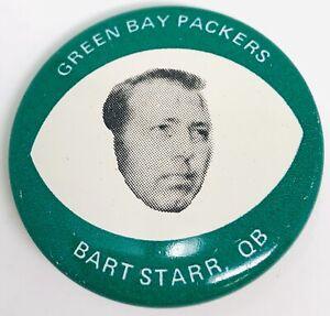 1969 Drenk's Potato Chips Green Bay Packers Bart Starr Button GREAT RF21