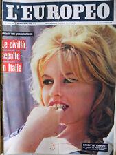 L' EUROPEO n°28 1960 Brigitte Bardot intervista su nuovo film  [C76]