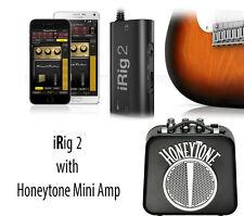 IK Multimedia iRig 2 Audio-Interface with Honeytone Mini amp