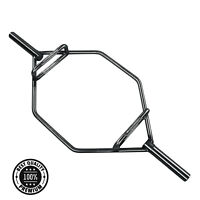 Black Trap Bar 2 Olympic Deadlift Squat 1000 lb Power Weight Lifting Steel Hex