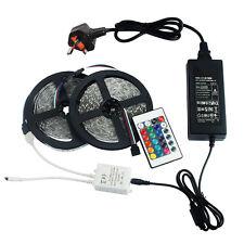 24V 10M (5M+5M) RGB SMD5050 LED x60/M Strip Light Kit Colour Changing Waterproof