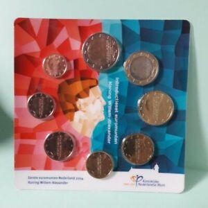 Pays-bas hollande nederland série 8 monnaies bu euro 2014 sous blister