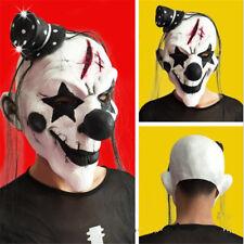 Homme Effrayant Evil Horreur Clown Costume Halloween Masque Perruque Chapeau NF