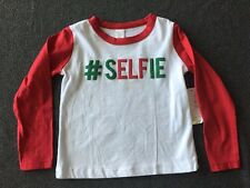 NWT Modern Kids Long Sleeve # SELFIE Crew Neck Shirt Size 2T