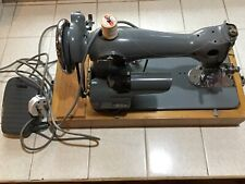 Vintage Jones Sewing Machine model D66 with Foot Pedal & Case Antique foreign.