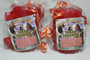 JGO DE 2 VELONES 7 MECHAS TUMBA TRABAJOS velon candles veladoras Amor, Amarres!!