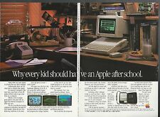 1984 APPLE IIc Computer 2-page advertisement, Apple ad, IIc in kids room