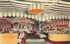 ICELAND RESTAURANT NEW YORK LARGEST INTERIOR VIEW ADVERTISING POSTCARD (c. 1940)