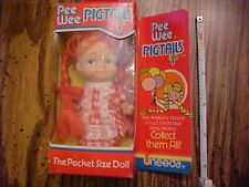 Vintage - Pee Wee Pigtails - Pocket Size Doll - Uneeda Doll Co.