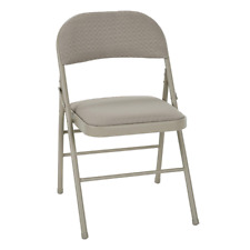 Cosco Deluxe Padded Folding Chair, Tan - 4 pack