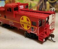 HO Athearn ATSF caboose car, for train set, New RTR , Santa fe wide vision