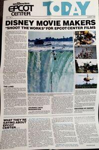 """Disney EPCOT Center Cast News Summer 1982 Vol 1 No.4 pre-opening 22"""" X 14"""" Rare"""