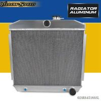 For 55-57 CHEVY BEL-AIR/NOMAD/150/210/DEL RAY 2-Core Light Aluminum Radiator