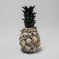 Hyde & Eek Boutique Light Up Skull Pineapple Halloween Creepy Decor Brand NEW