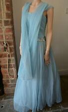 Vestido de Boda Hermosa Vintage 40s 50s California azul de gala Baile de graduación de Novia 40 M 12
