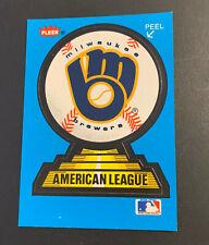 1989 Fleer Baseball Sticker Card Milwaukee Brewers Cleveland Chief Wahoo Logo