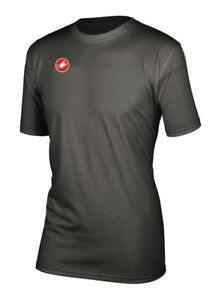 Castelli RACE DAY T-Shirt Casual Cycling shirt : ANTHRACITE