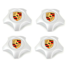 Set Of New Genuine Porsche Cayenne Star Shaped Colour Alloy Wheel Centre Caps