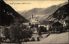 Prato Leventina Schweiz Tessin ~1910 Gebirge Berge Kirche Dorf Panorama Häuser