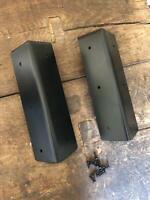 Land Rover Defender Steel Seat Box Corner Carpet Mat Protector Kit - Black Satin