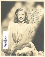 "Vera-Ellen Actress ""White Christmas"" Dancer Autographed 8x10 Photo COA DECEASED"