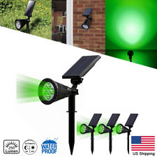 4X Solar Power Spot light 4-LED Green Garden Outdoor Path Landscape Lamp Walkway