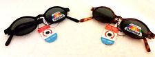 2 pair Vintage Small Oval Black / Tortoise Polarized Sunglasses Plastic Frame