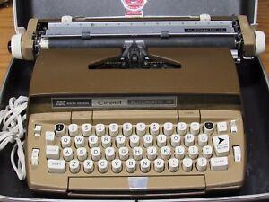 Vintage SCM Smith Corona Coronet Automatic 12 Two-Tone Brown & Tan Free Shipping