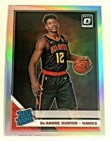 2019-20 Panini Optic Rated Rookie Holo De'Andre Hunter RC  #198 Atlanta Hawks