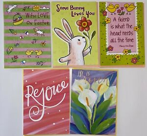 NEW RECYCLED PAPER GREETINGS LOT OF 5 EASTER CARDS $17.45 VALUE BY PAPYRUS
